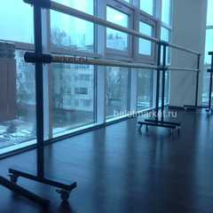 Мобильный балетный станок МП1-2 двухрядный на колесах