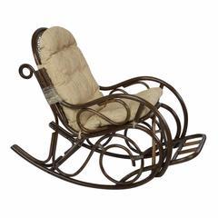 Кресло-качалка с подножкой, 05/11 Б (подушка рогожка)