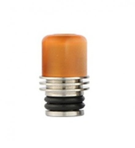 Drip-Tip Acrylic + SS 17.5mm жёлтый