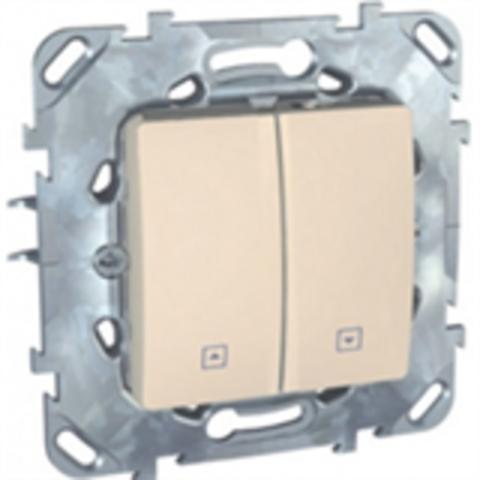 Выключатель для жалюзи без фиксации. Цвет Бежевый. Schneider electric Unica. MGU5.207.25ZD