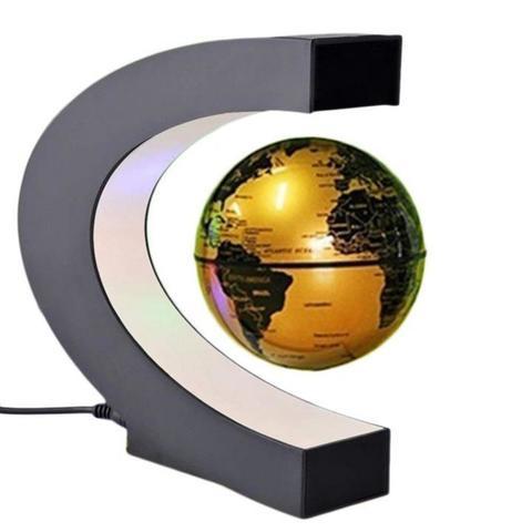 Левитирующий глобус (золотой)