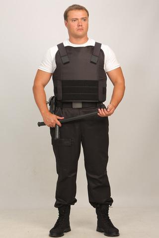 Бронежилет Комфорт 1-1 УНИ (тканевая бронепанель) с боковой защитой, Бр1 класс защиты. ПОЛНЫЙ.