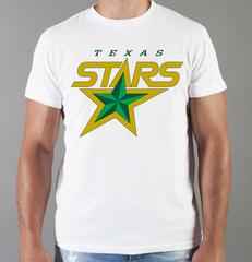 Футболка с принтом НХЛ Даллас Старз (NHL Dallas Stars) белая 008