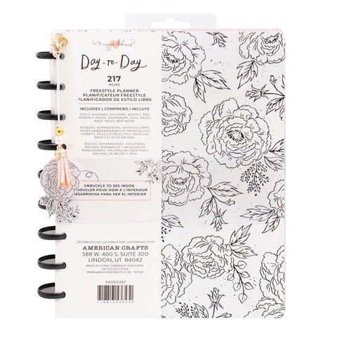 Планер на дисках, не датирован. Maggie Holmes Day-To-Day Undated Freestyle Planner 19х24 см-Black & White Floral