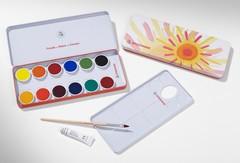 Краски акварельные  твердые ОПАК, 12 цветов (Stockmar)