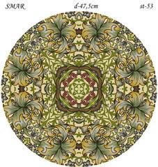 Эскиз для росписи, Круг диаметр-47,5см, SMAR-st-53
