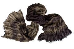 Шарф жатка темно-коричневый 0376