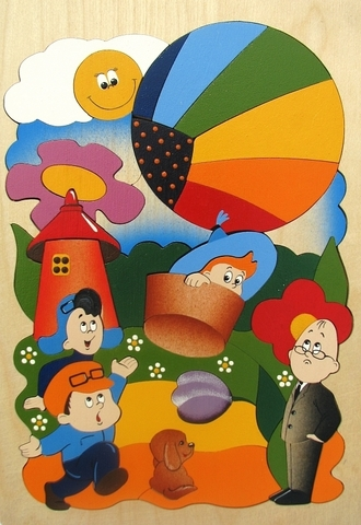 Мозаика-вкладыш Незнайка на воздушном шаре, Крона