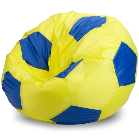 Кресло-мешок мяч  XXL, Оксфорд Желтый и синий