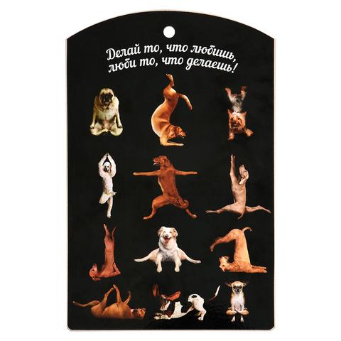 Доска разделочная «Йога-собаки» 29х18,5 см