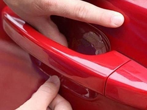 Комплект защитных плёнок от царапин под ручки дверей автомобиля (под евроручки)
