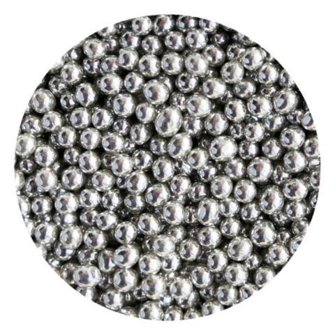 Посыпка шарики серебряные металлизированные 4-5мм (25г)