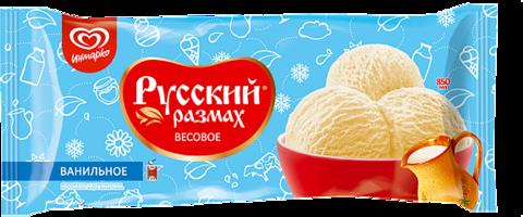 """Мороженое """"Русский размах"""" ванильное 450г мягкая упаковка"""