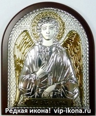 Икона Ангела Хранителя серебро и золочение 8,5х7см