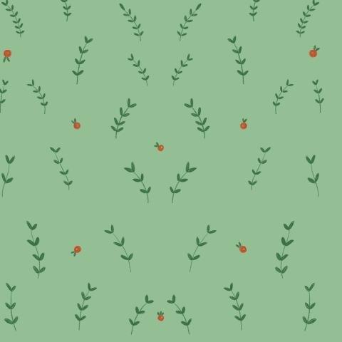 Ягодки и веточки (светло-зеленый)