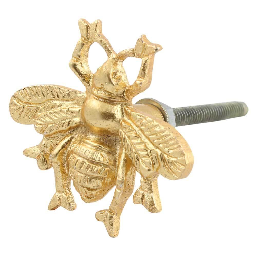 Ручка мебельная металлическая - пчела золото