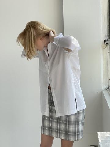 Рубашка сорочечная с втачным рукавом и коккеткой на спине