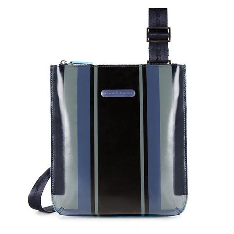 Сумка Piquadro Blue Square, синяя, 22x25x2 см