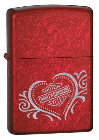 Зажигалка Zippo Harley Davidson Heart Candy Apple Red