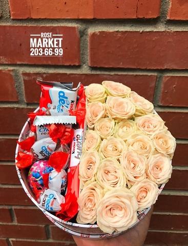 Розы и Kinder сладости #18202