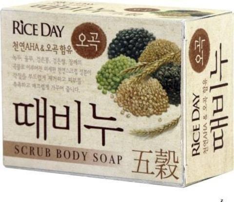 Скраб-мыло туалетное с экстрактом пяти злаков Rice Day 100 гр