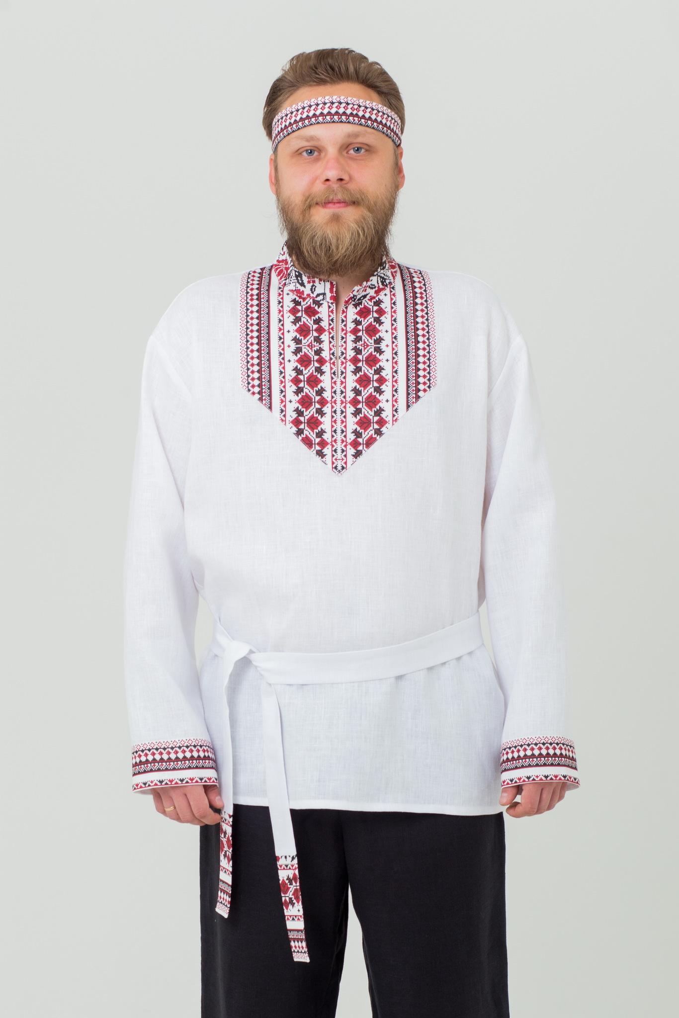 Рубаха мужская из льна Мужская сила