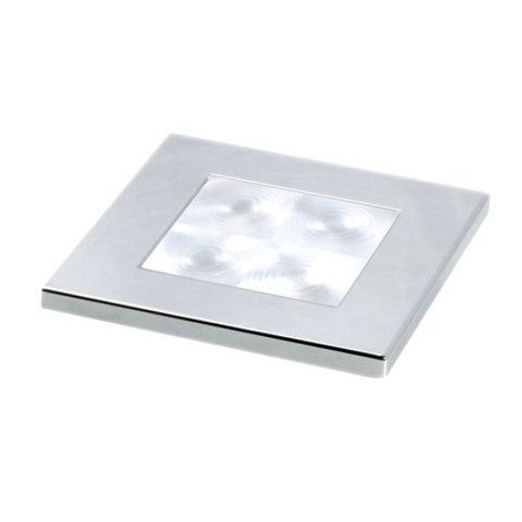 Светильник светодиодный для подсветки палуб и трапов, 60 х 60 мм, хромированный корпус