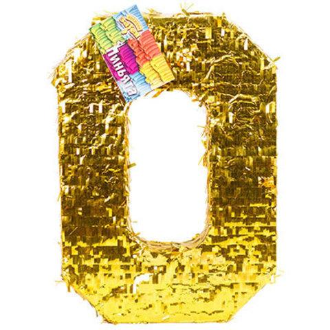 Пиньята Цифра 0 Золото