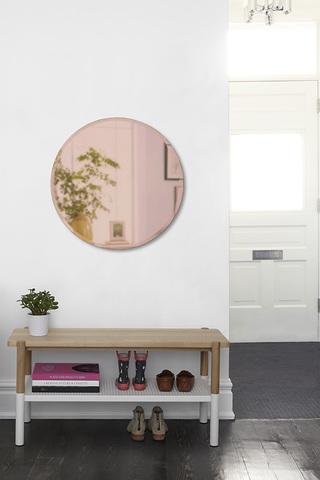 Зеркало настенное Hub D91 см медь