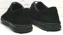 Стильные туфли мужские мокасины из натуральной кожи летние стиль casual Luciano Bellini 91754-S-315 All Black.