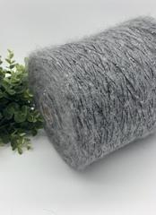 Кидмохер с пайетками LAGOPOLANE Kidpai 400 темно-серый меланж с серебристыми пайетками