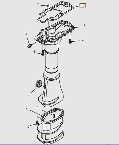 Прокладка дейдвуда для лодочного мотора T9.8 Sea-PRO (12-1)
