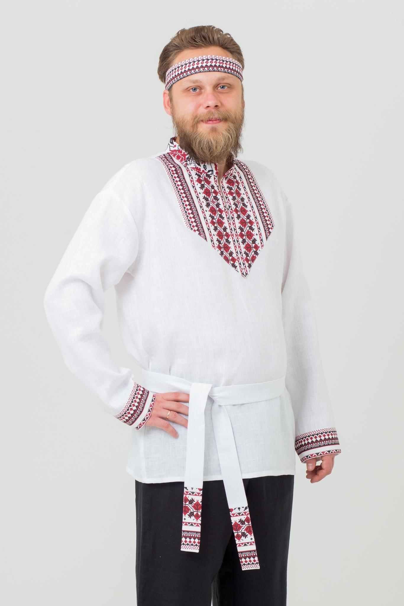 Рубаха мужская льняная Мужская сила купить