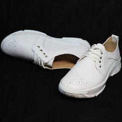 Модные туфли кроссовки женские Derem 18-104-04 All White