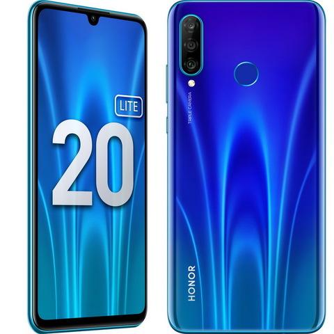 Смартфон Honor 20 Lite 4/128GB (RU) сияющий ультрамарин (MAR-LX1H)