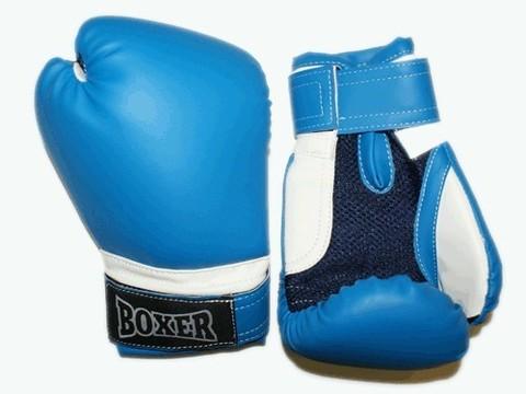 Перчатки боксёрские RUSCOsport, синие, 8 Oz: С-8