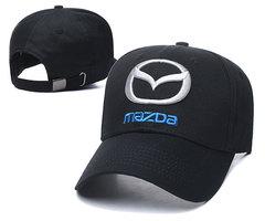 Модная бейсболка с вышивкой Мазда (Кепка Mazda) черная