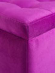Пф-400-Я Пуфик квадратный (розовый) с ящиком для хранения