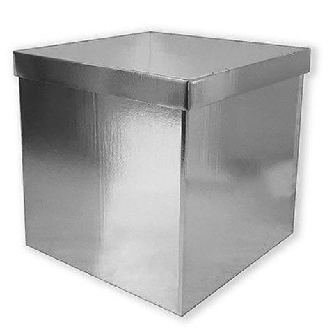 Коробка для надутых шаров серебро блеск
