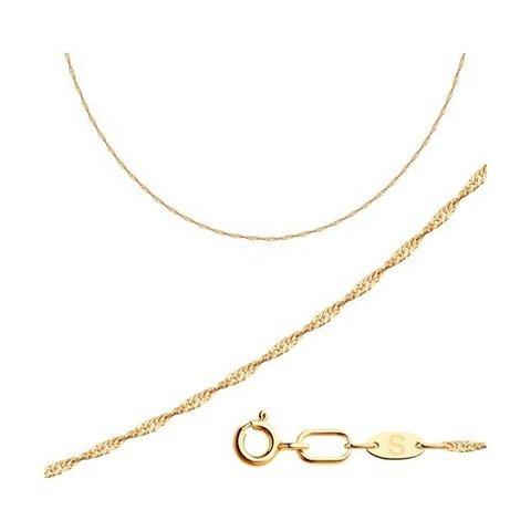 581060252 - Цепь из золота 585 пробы плетение сингапур