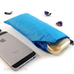 Женский плоский зонт 3 Слона L5605 облегченный голубой