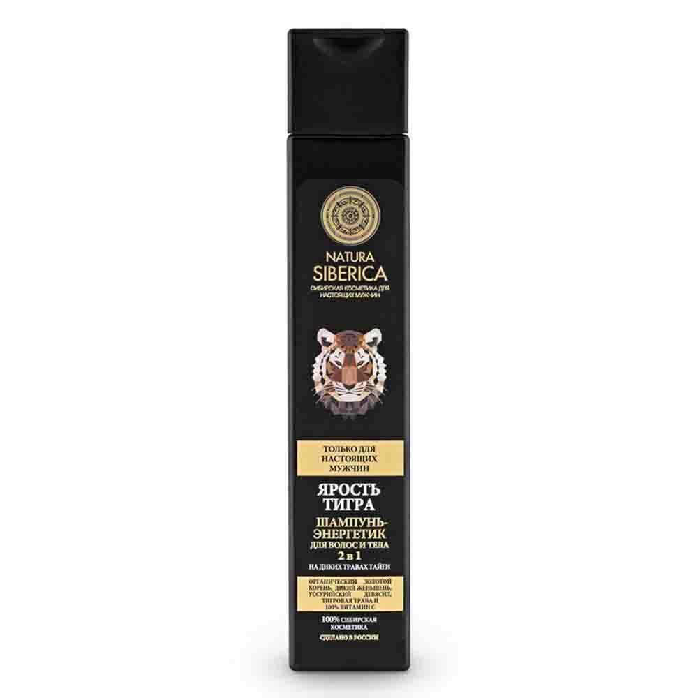 Шампунь мужской энергетический для волос и тела 2в1 Ярость тигра