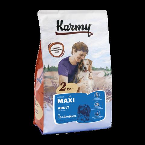Karmy Maxi Adult Сухой корм для собак крупных пород с телятиной