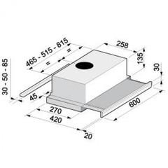 Вытяжка Korting KHP 6313 N схема