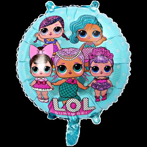 Воздушный шар голубой все куклы