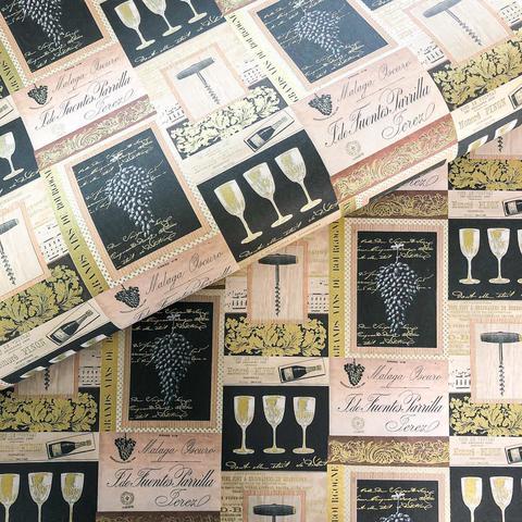 Бумага подарочная декоративная Французские вина