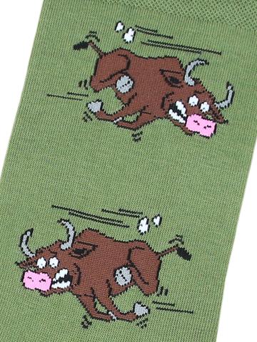 Носки Бык зеленый
