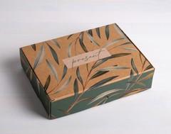 Коробка складная крафтовая Present, 21 × 15 × 5 см, 1 шт.