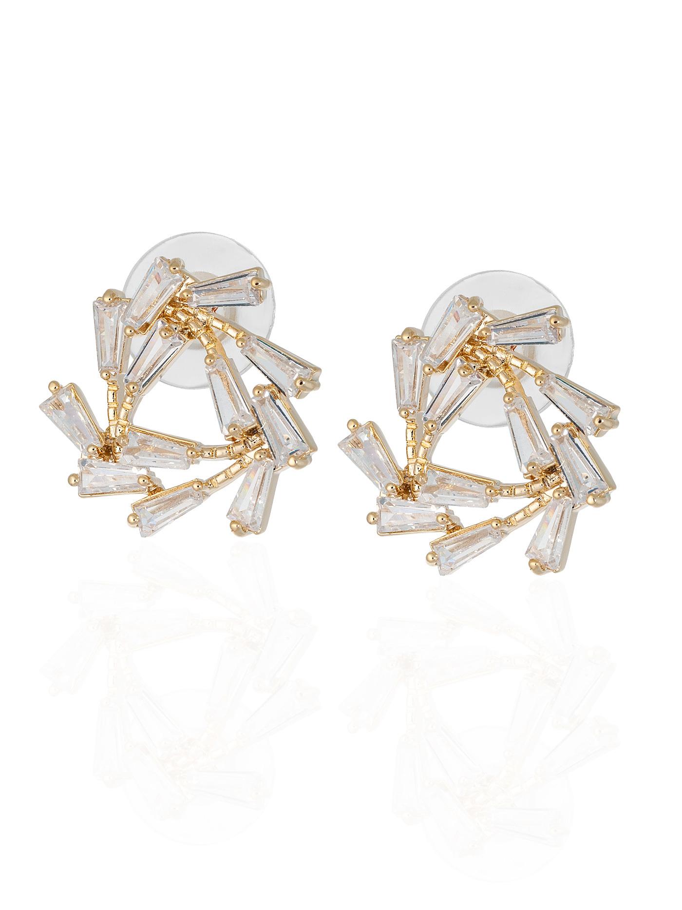 Серьги с кристаллами в подарочной коробке, стильные подарки