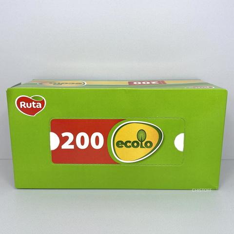 Бумажные салфетки Ruta Ecolo в коробке (200 шт.)
